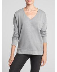 GAP Factory - V-neck Tunic Sweatshirt In Fleece - Lyst
