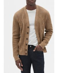 GAP Factory - Cable-knit Cardigan - Lyst