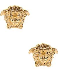 Versace - Medium Medusa Head Earrings Gold - Lyst
