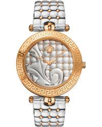 Versace - Vanitas Watch Silver/rose Gold - Lyst