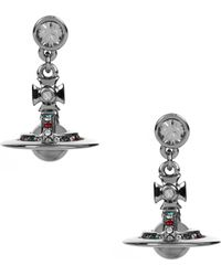 Vivienne Westwood - Petite Orb Earrings Ruthenium/multi - Lyst