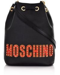 0dfaa01c1f2 Moschino - Circus Bear Small Bucket Handbag Black - Lyst