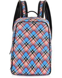 Vivienne Westwood - Shuka Tartan Backpack 43010012 Blue - Lyst