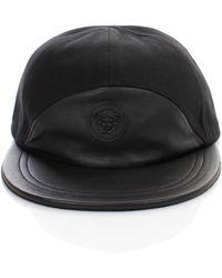 849e0679725 Lyst - Versace Gold Medusa Leather Cap Black in Black for Men