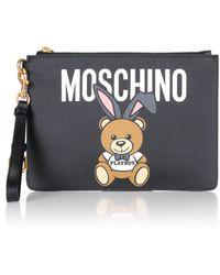 Moschino - Playboy Teddy Bear Zip Pouch Black - Lyst