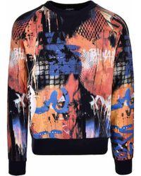 Balmain - Graffiti Style Print Sweater Multi - Lyst