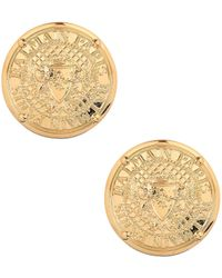 Balmain - Medallion Earrings Gold - Lyst