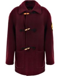 Vivienne Westwood Anglomania - Duffle Coat Burgundy - Lyst