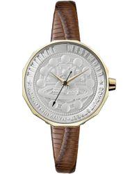 Vivienne Westwood   Edgeware Watch Gold/brown   Lyst