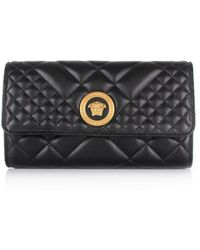 b13216b844c Versace - Fold Over Evening Chain Bag Black gold - Lyst