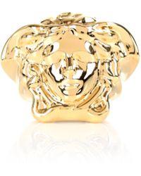 Versace - Medusa Head Ring Gold - Lyst