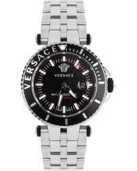 Versace - 'v Race Camo Diver' Watch - Lyst