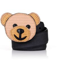 Moschino - Recycled Bear Belt Black/brown - Lyst