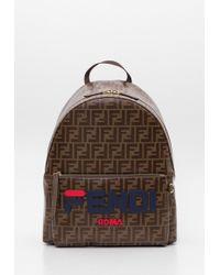 Fendi - Glazed Fabric Ff Backpack - Lyst