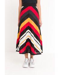 MSGM - Knitted Midi Skirt - Lyst