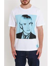 Calvin Klein - T-Shirt Ritratto Warhol Azzurro - Lyst