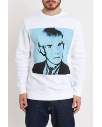 Calvin Klein - Warhol Portrait White Sweatshirt - Lyst