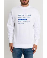 Maison Kitsuné - Felpa Con Stampa Code - Lyst
