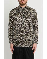 9eacdbced13 Saint Laurent Leopard-print Shirt in Natural for Men - Lyst