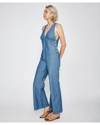 Free People - Dance All Night Jumpsuit Blue - Lyst