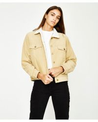 Insight - Oversized Cali Jacket Cord Borg Biscuit - Lyst