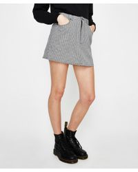 Insight - Dead Air Skirt Black/white - Lyst