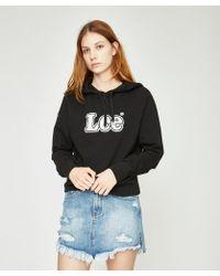 Lee Jeans   Old School Hoodie Solid Black   Lyst