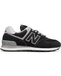 New Balance - 574 Shoe Black - Lyst