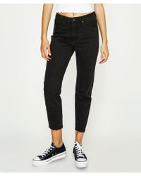 Insight - Tina Crop And Chop Jean Whip Black - Lyst
