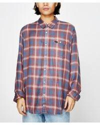 RVCA - Vooks Long Sleeve Shirt Red - Lyst