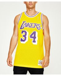 Mitchell & Ness - Lakers Oneil Jersey Yellow - Lyst