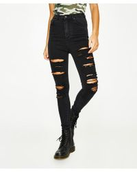 Neon Hart - Patti High Waist Super Skinny Hectic Blow Out Jean - Lyst