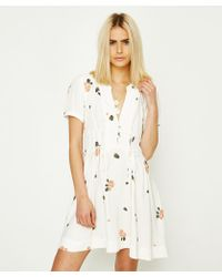 Free People - Dream Girl Mini Dress Ivory - Lyst