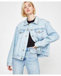 Insight - Oversized Boyfriend Jacket Friday Blue Patch - Lyst