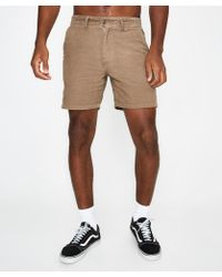 RVCA - Fine Lines Short Washed Olive - Lyst