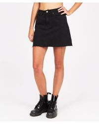 Insight - Sasha A-line Skirt Salt And Pepper Black - Lyst