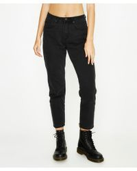 Neon Hart - Maggie Mom Washed Black Jean - Lyst