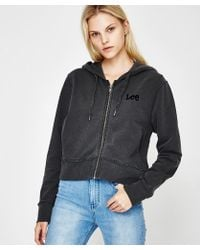 Lee Jeans - X Raw Zip Hoody Black - Lyst
