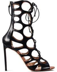 Francesco Russo - Leather Woven Sandals - Lyst