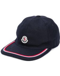 Moncler - Piped logo patch cap - Lyst