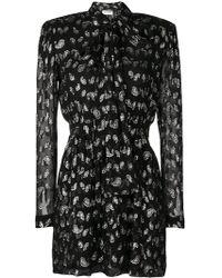 Saint Laurent - Glitter Paisley Patterned Dress - Lyst