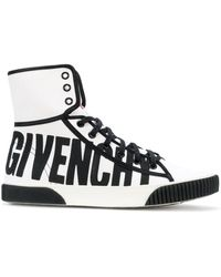 Givenchy - Logo Hi-top Trainers - Lyst
