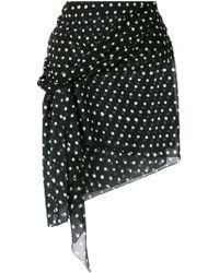 Saint Laurent - Polka Dot Mini Skirt - Lyst