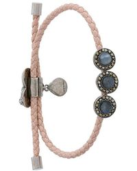 Alexander McQueen - Embellished Leather Bracelet - Lyst