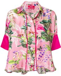 For Restless Sleepers - Floral Print Pyjama Top - Lyst