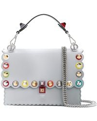 Fendi | Kan I Leather Shoulder Bag | Lyst