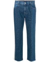 Stella McCartney - Two-tone Straight Leg Jeans - Lyst