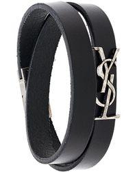 Saint Laurent - Logo Wrap Bracelet - Lyst