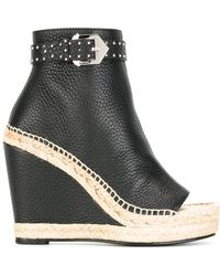 Givenchy - Studded Buckle Platform Boots - Lyst