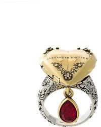 Alexander McQueen - Heart Locket Ring - Lyst